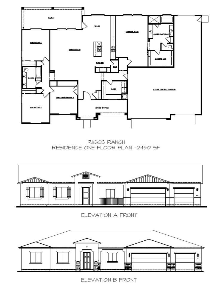 Riggs Ranch Residence One Floor Plan