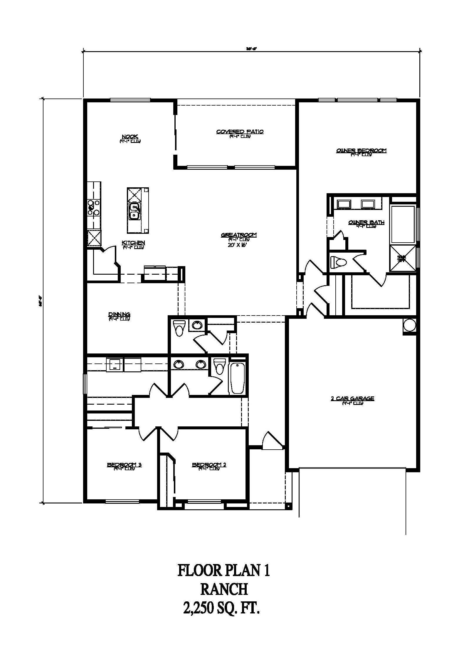 Floor Plan 1 - Ranch